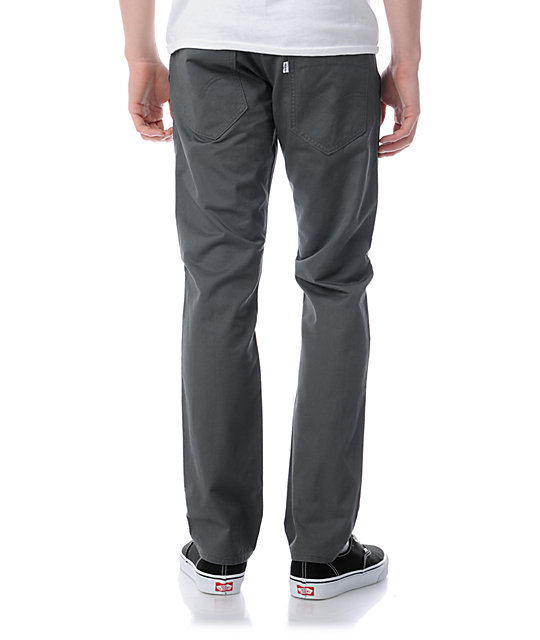 Levis 511 Revolver Charcoal Grey Twill Skinny Pants