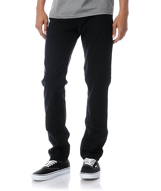 Levis 511 Stretch Denim Black Skinny Jeans