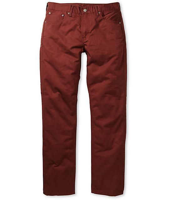 Levis 511 Twill Burgundy Skinny Pants