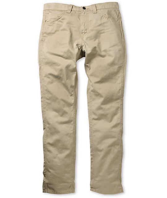 Levis 511 Twill Khaki Skinny Pants