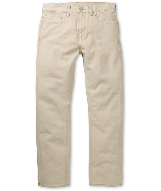 Levis 513 Plaza Bedford Taupe Slim Fit Pants