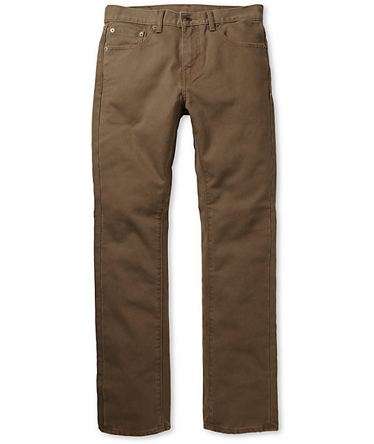 Levis 513 Shadow Bedford Brown Slim Fit Pants