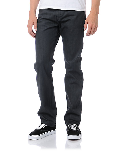 Levis 513 Waxed Dark Charcoal Regular Fit Jeans