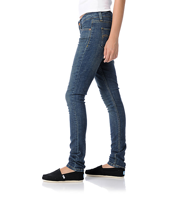 Levis 524 Too Superlow Premuim Dark Skinny Jeans