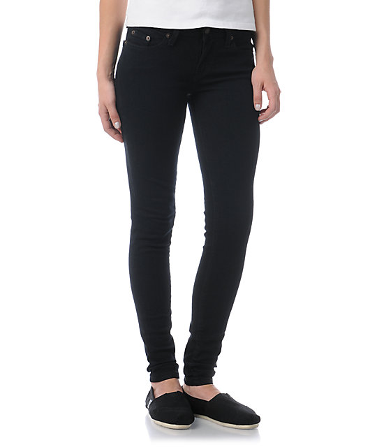 Levis 535 Black As Night Skinny Jeans