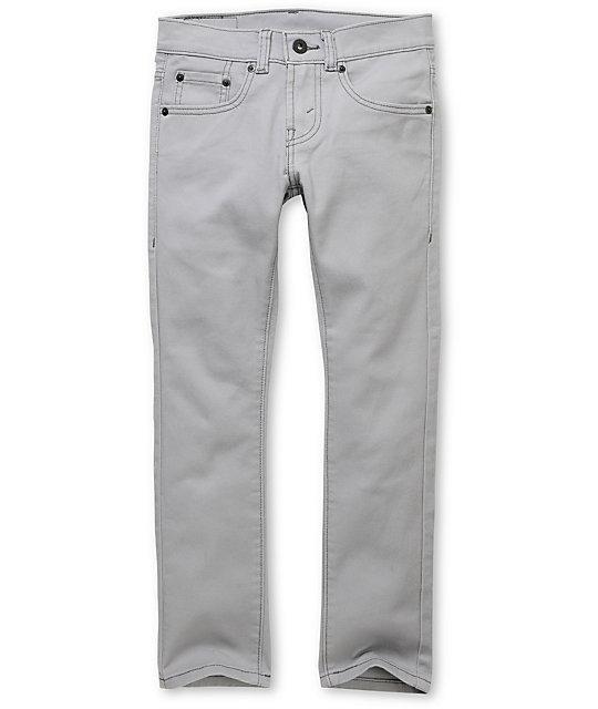 Levis Boys 510 Light Grey Super Skinny Jeans