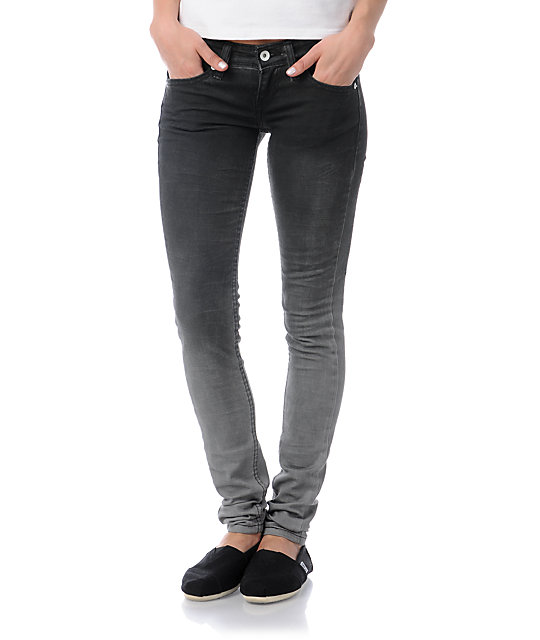 Levis Faded Past Black Ombre Low Twist Skinny Jeans