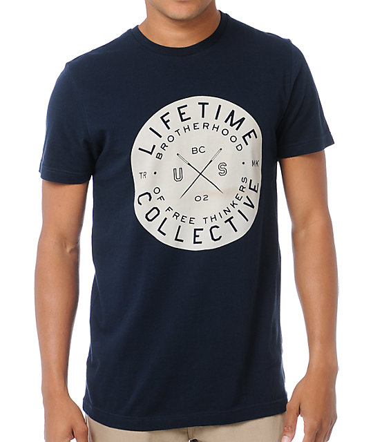 Lifetime Collective Come Together Navy T-Shirt
