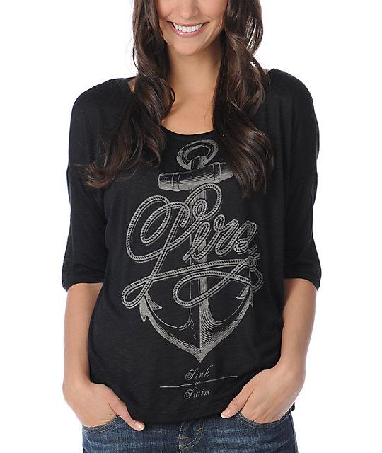 Lira Anchors Black Oversized T-Shirt