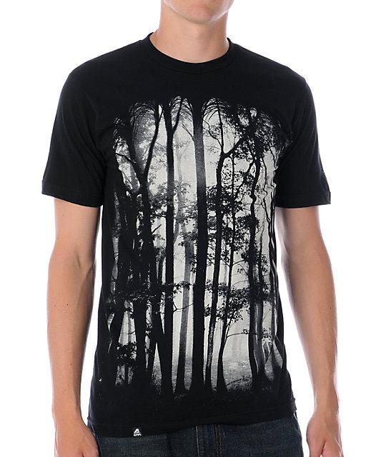 Lira Forest Black T-Shirt