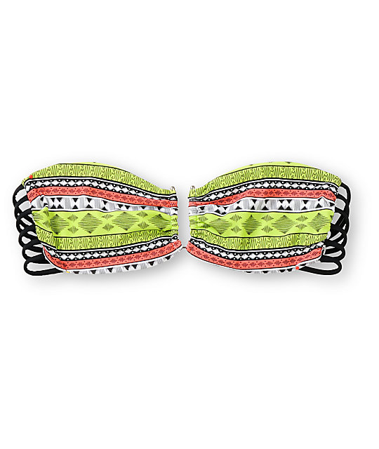 Lira Jesse Reversible Tribal Print Banduea Bikini Top
