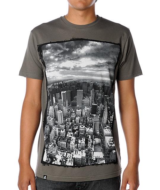 Lira Manhattan Charcoal T-Shirt