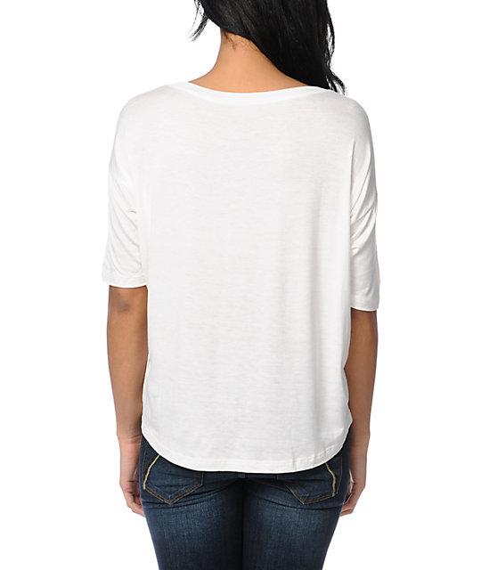 Lira Sunset Natural Scoop Neck T-Shirt