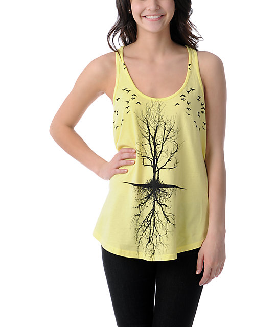 Lira Trees Yellow Tank Top