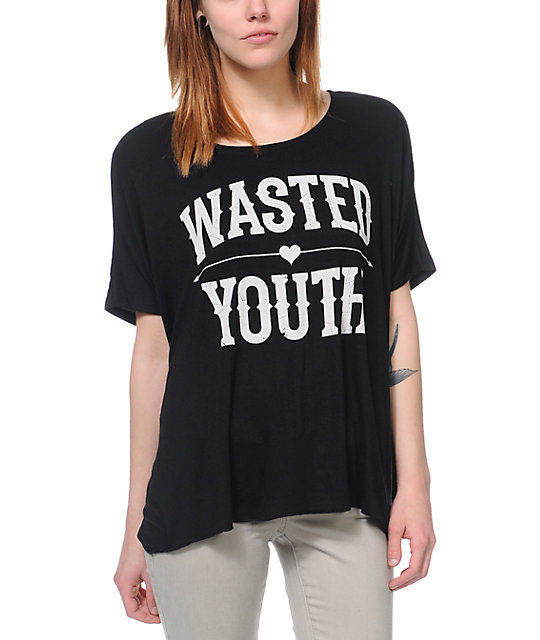 Lira Wasted Black Oversized T-Shirt