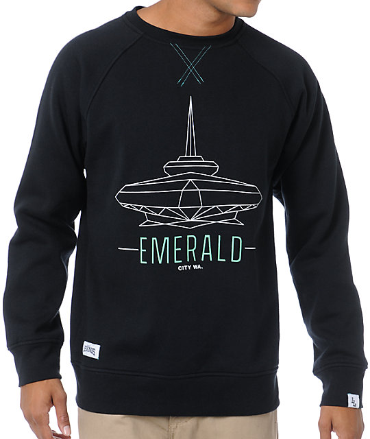 Local Legends Emerald City Black Crew Neck Sweatshirt