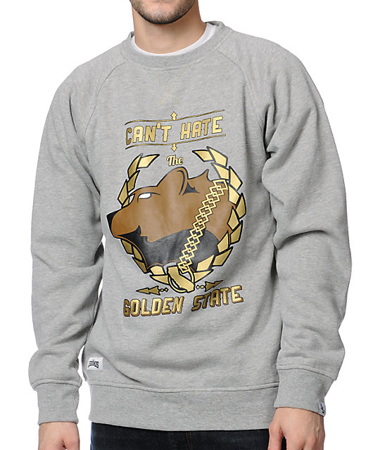 Local Legends Golden State Grey Crew Neck Sweatshirt