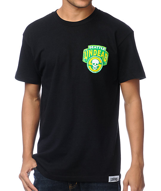 Local Legends Seattle Undead Black T-Shirt