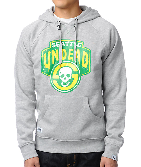 Local Legends Seattle Undead Grey Pullover Hoodie