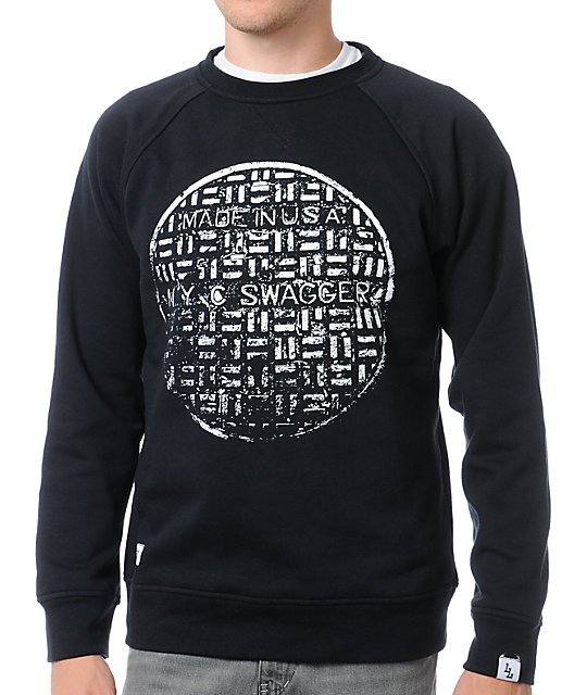 Local Legends Swagger Black Crew Neck Sweatshirt