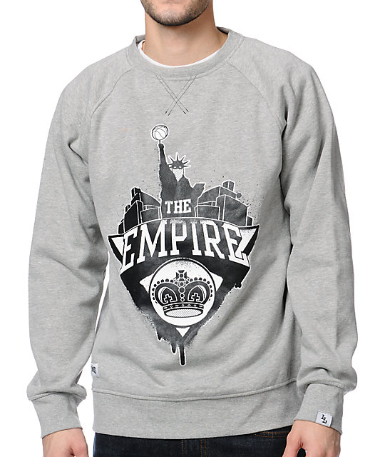 Local Legends The Empire Grey Crew Neck Sweatshirt