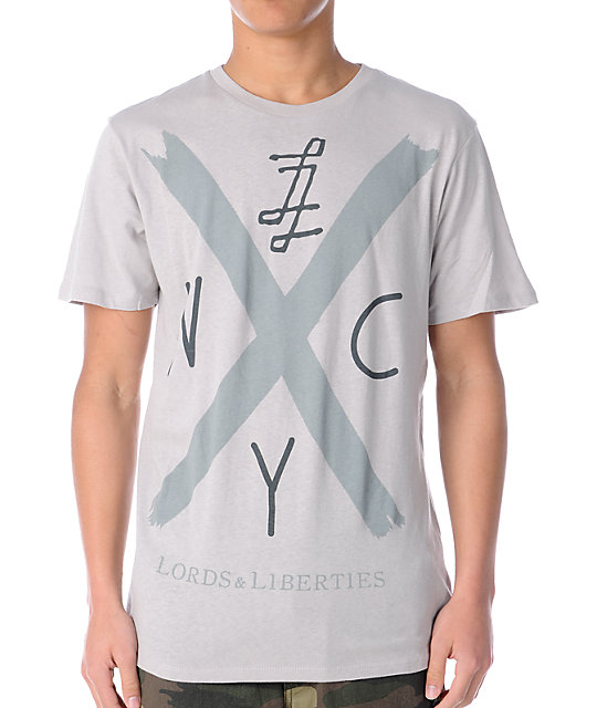 Lords & Liberties Hardcore Light Grey T-Shirt