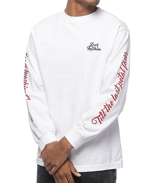Machine Co Lost Love White Long Sleeve T-Shirt