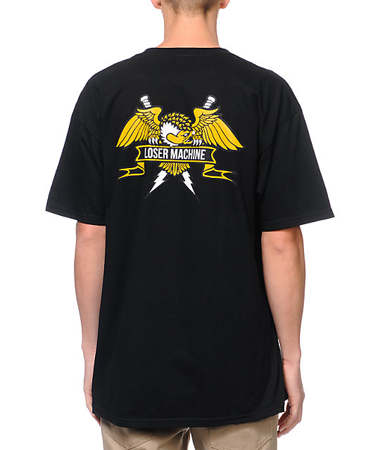Loser Machine Condor Crest Black T-Shirt