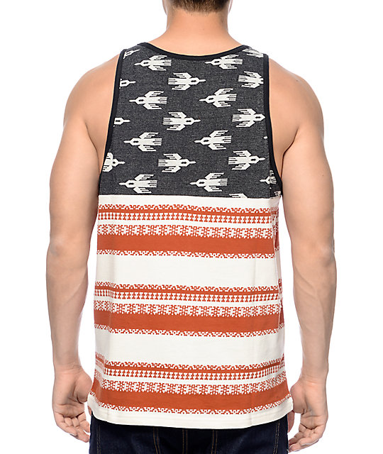 Loser Machine Jefferson Black & Red Tank Top