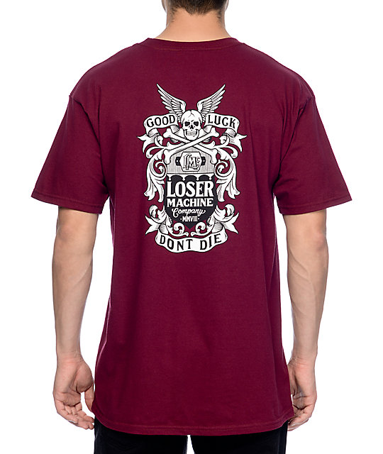 Loser Machine Pinnacle Burgundy T-Shirt