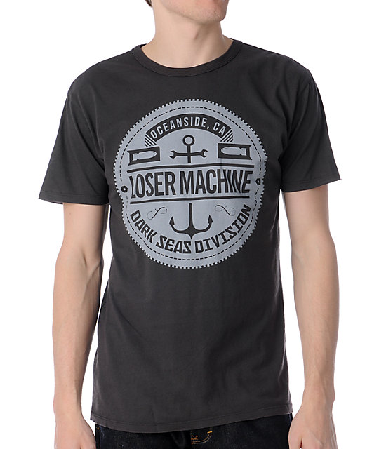 Loser Machine Sprocket Charcoal T-Shirt