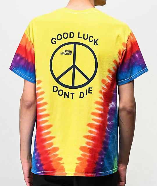 Trench Loser Machine Tie Amarilla Dye Camiseta tohrsQBdCx