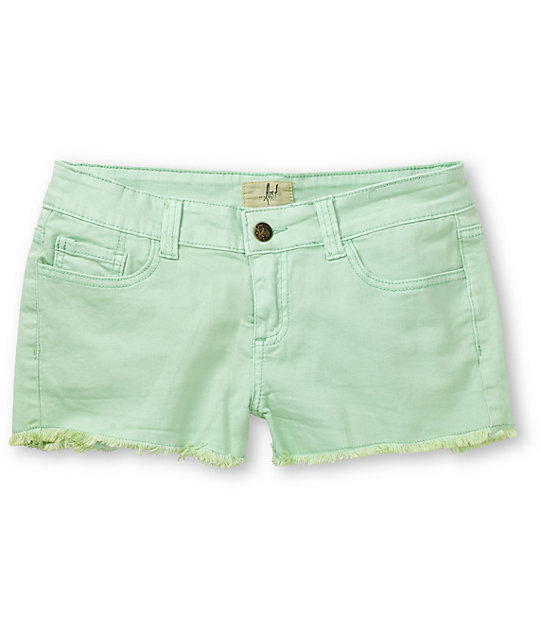 Lost Doll Seafoam Mint Green Cut Off Shorts