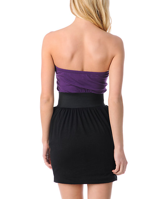 Love, Fire Aurora Black & Purple Tube Dress