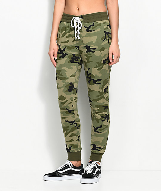 Love, Fire Corinne Camo Jogger Sweatpants