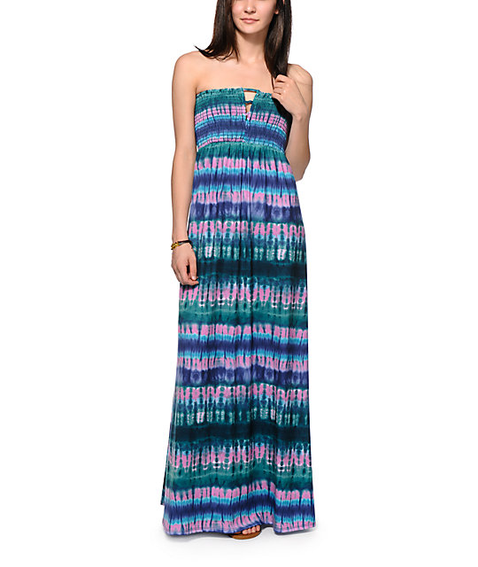 Love, Fire Tie Dye Maxi Dress