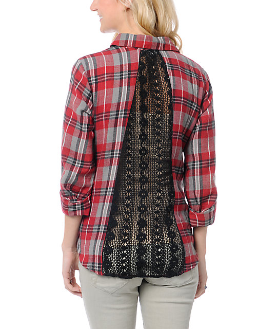Red Plaid Shirt Womens