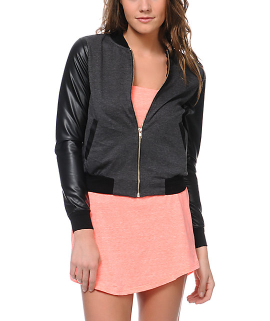 Lunachix Black & Charcoal Zip Up Jacket
