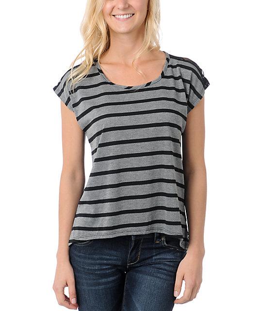 Lunachix Black Lace Back T-Shirt