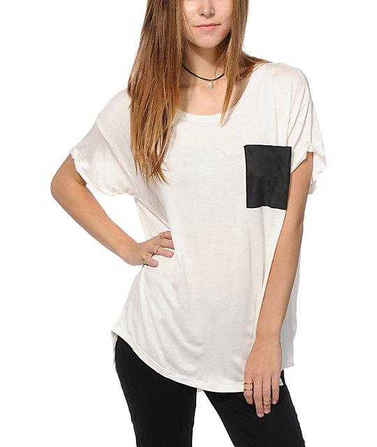 Lunachix Black Velvet Pocket T-Shirt