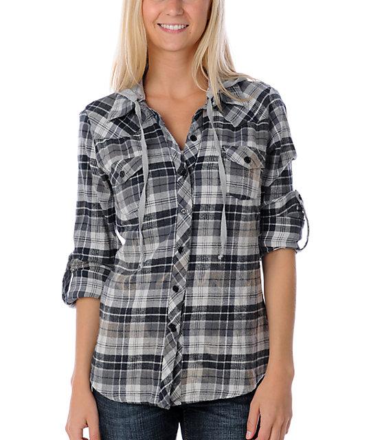 Lunachix Cosmo Bleached Black Flannel Shirt