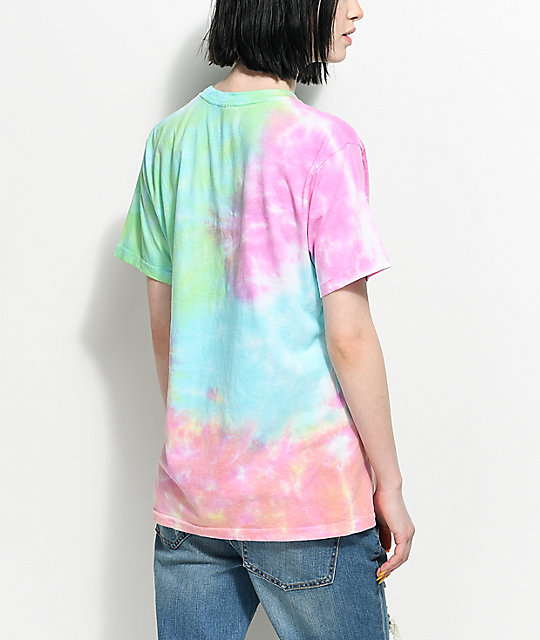 Lunachix Good Vibes Rainbow Tie Dye T-Shirt