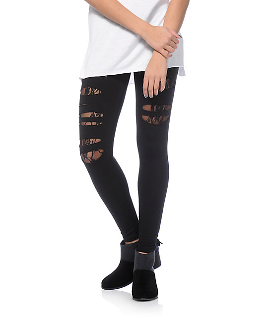 Lunachix Karen Slash Lace Leggings