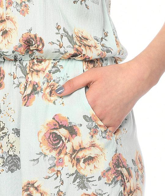 Lunachix Nina Blue Floral Romper