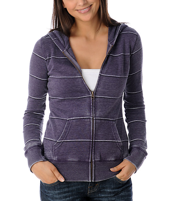 Luv4anouka Jackmans Grey Burnout Stripe Hoodie