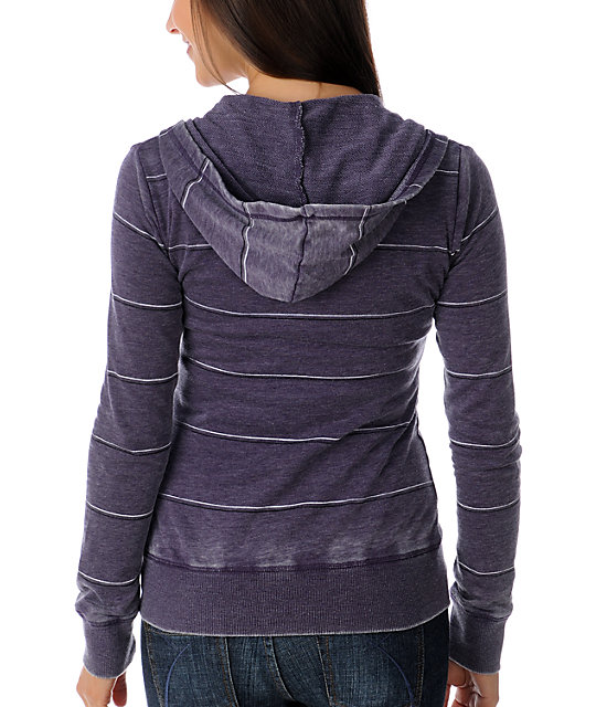 Luv4anouka Jackmans Purple Burnout Stripe Hoodie
