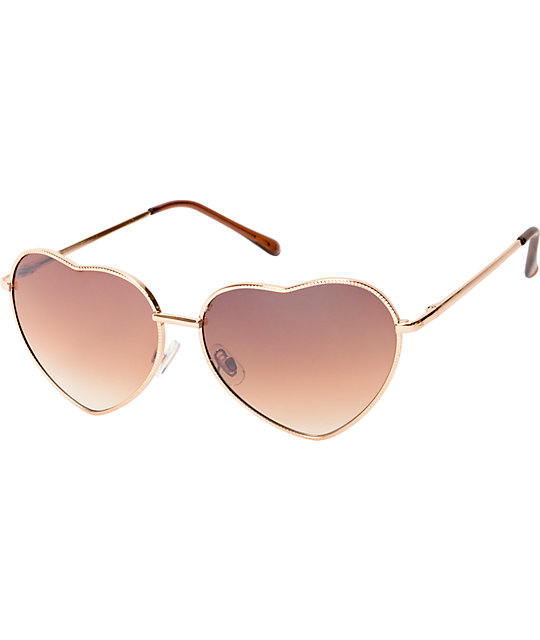 Luvs Eye Heart Gold Sunglasses