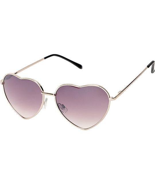 Luvs Eye Heart Silver Sunglasses