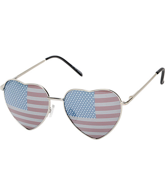 Luvs Eye Heart USA Sunglasses
