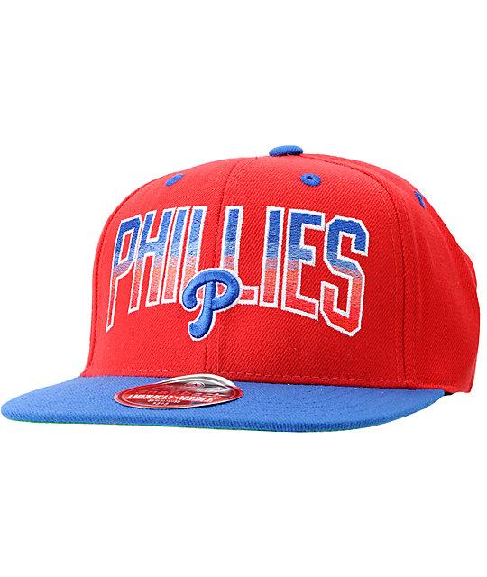 MLB American Needle Philadelphia Phillies Hayes Red Snapback Hat